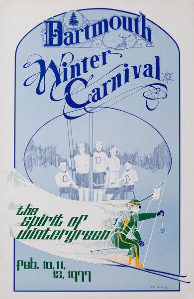 Dartmouth Winter Carnival, Original 1977 Ski Poster
