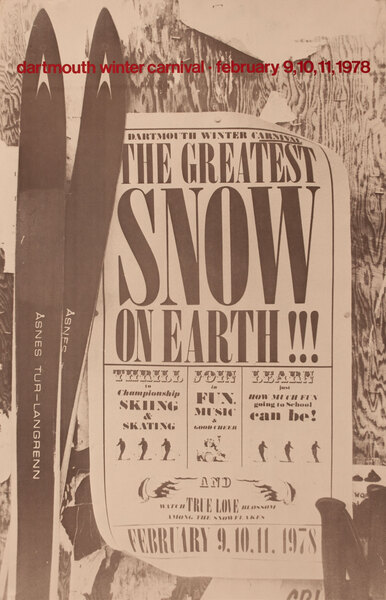 Dartmouth Winter Carnival, Original 1978 Ski Poster