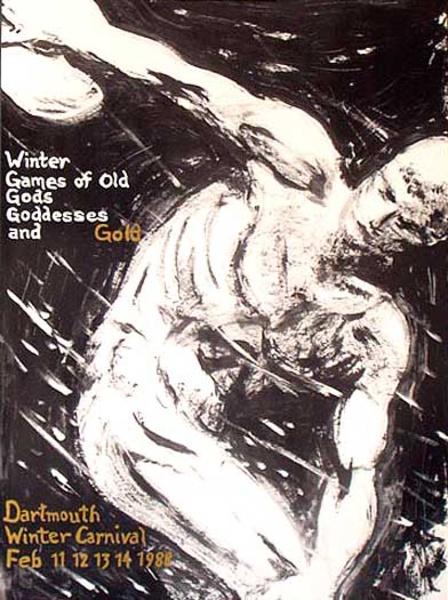 Dartmouth Winter Carnival, Original 1988 [[Ski]] Poster