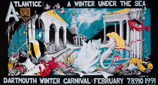 Dartmouth Winter Carnival, Original 1991 Ski Poster