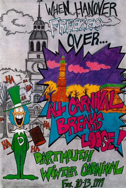 Dartmouth Winter Carnival, Original 1994 [[Ski]] Poster