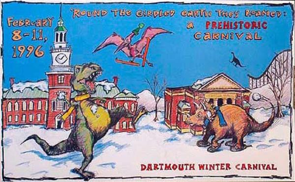 Dartmouth Winter Carnival, Original 1996 Ski Poster