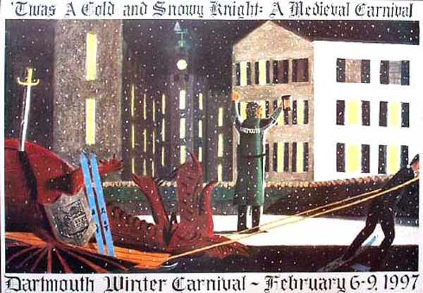 Dartmouth Winter Carnival, Original 1997 Ski Poster