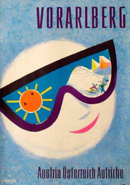 Austria Travel [[Ski]] Poster Vorarlberg