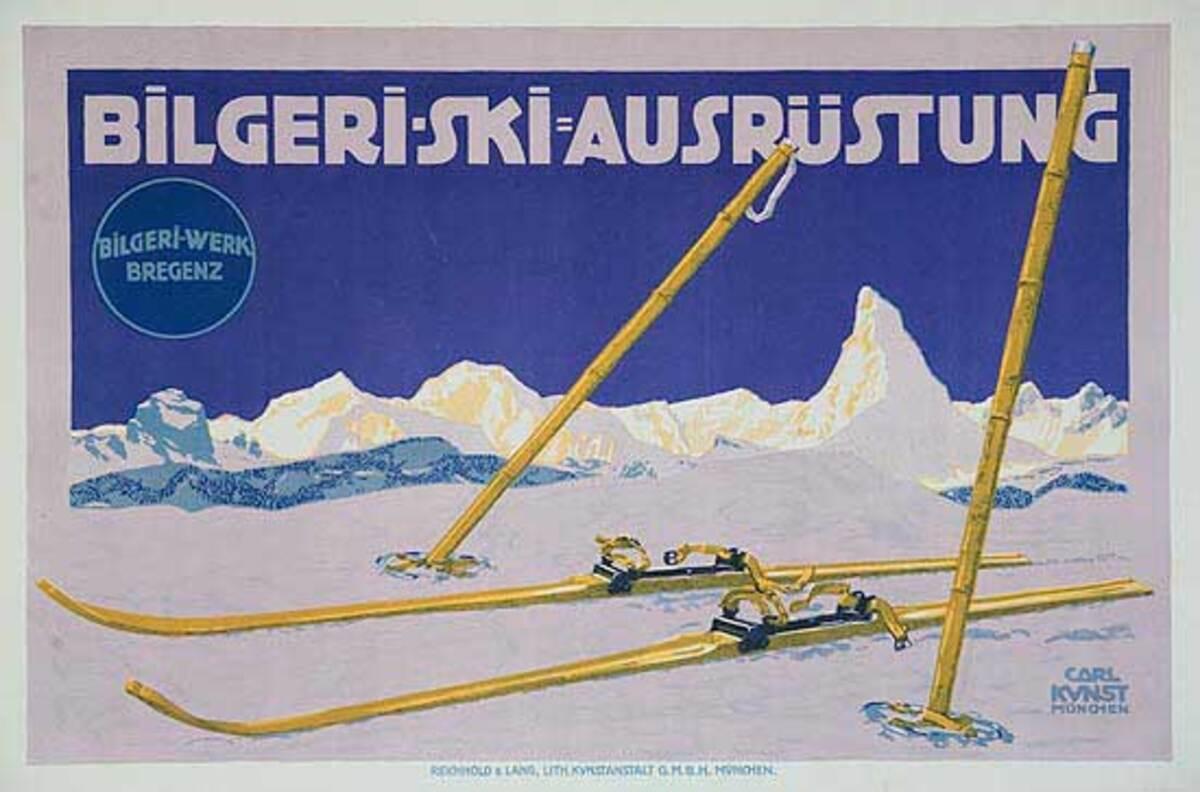 Bilgerie Ski Poster