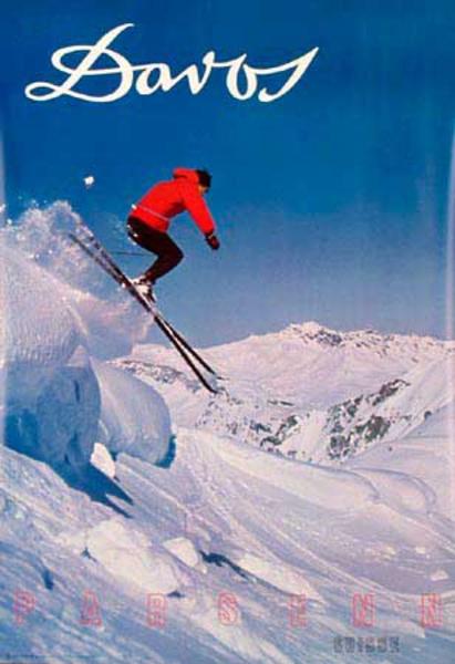 Davos Original Vintage Ski Poster