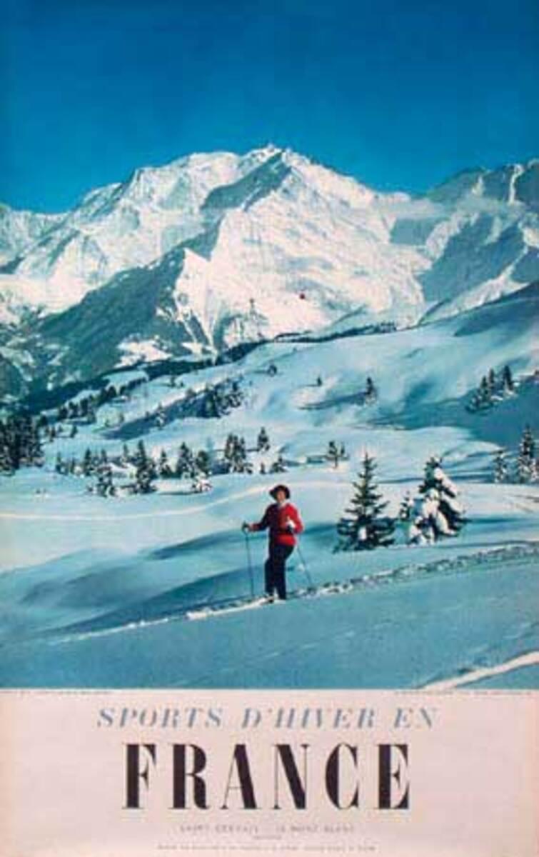 Sports d'Hiver en France Original Ski Poster