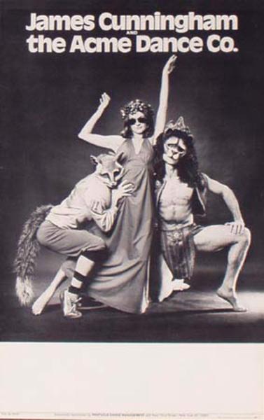 Original Vintage James Cunningham Acme Dance Co. Poster clothed