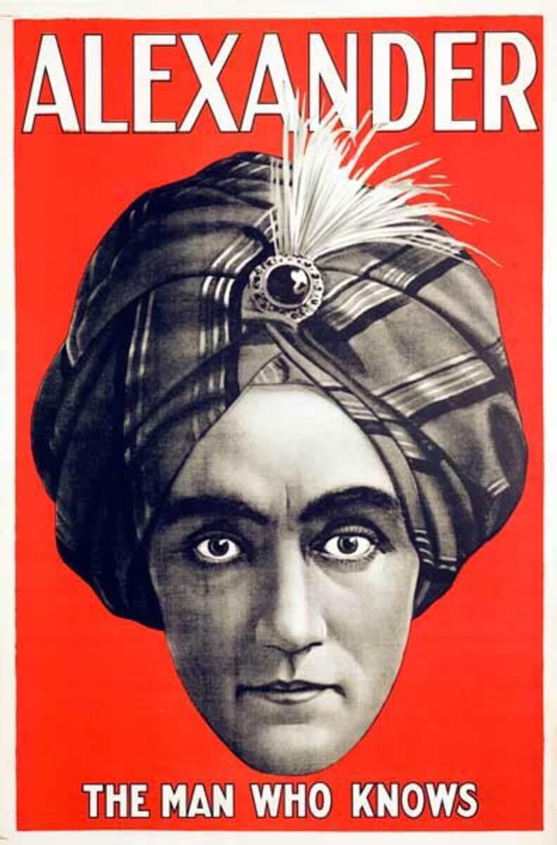 Alexander the Man Who Knows Magic Original Vintage Poster