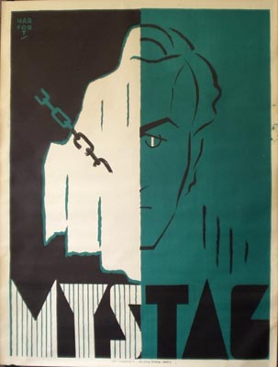 Original Vintage Mystag Magic Poster