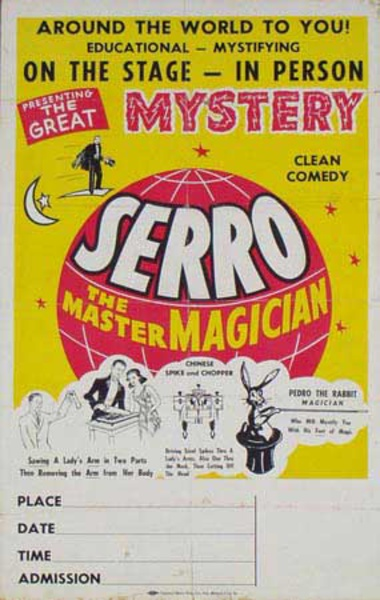 Serro The Master Magician, Original Vintage Magic Poster