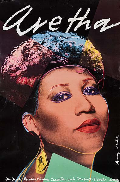 Aretha Original Arista Records Ardertising Poster
