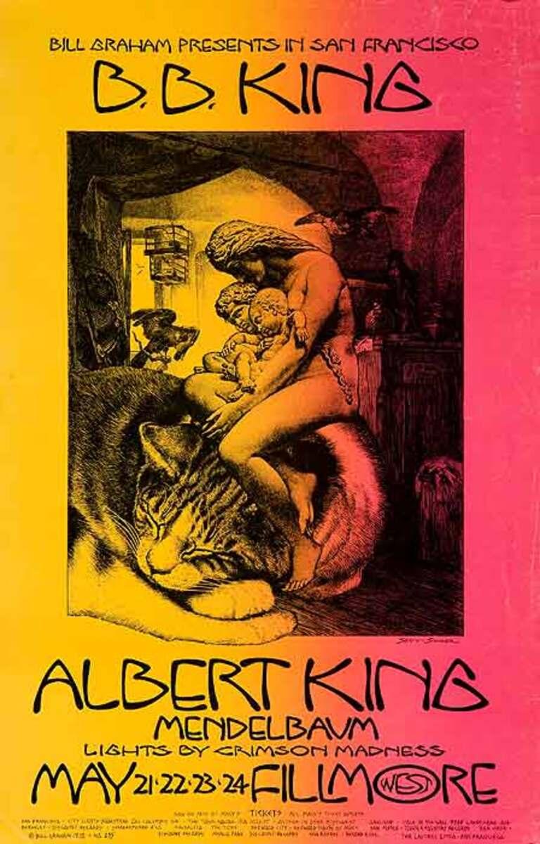 Bill Graham Presents BB King at the Fillmore Original Blues and Rock Poster