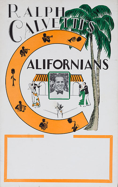 Ralph Calvettis Californians Original Big Band Poster
