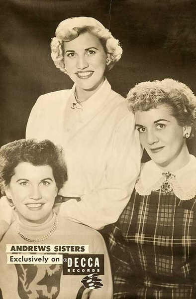 Decca Records Original Adverting Poster The Andrews Sisters