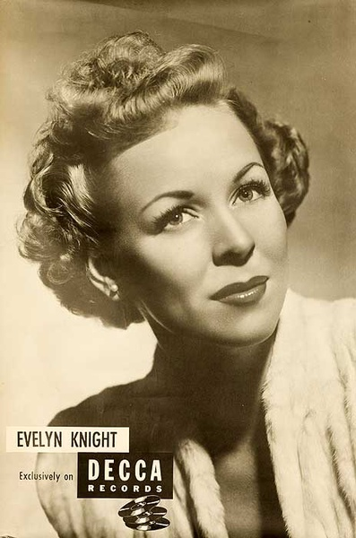 Decca Records Original Adverting Poster Evelyn Knight