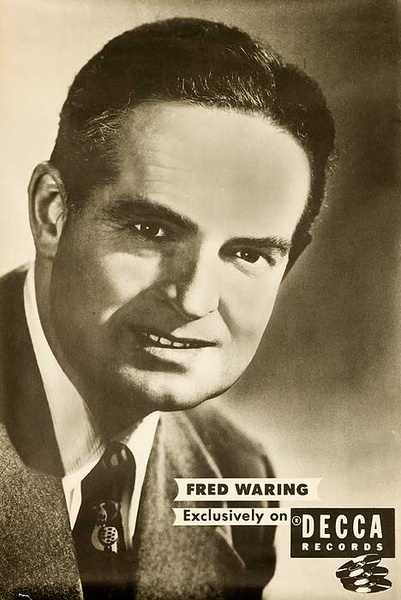 Decca Records Original Adverting Poster Fred Waring