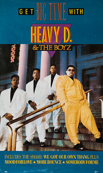 Heavy D and the Boyz Original Rap Music Poster