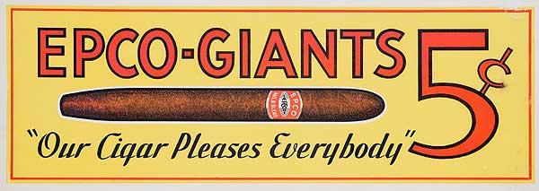 Original Vintage Epco Cigar Poster