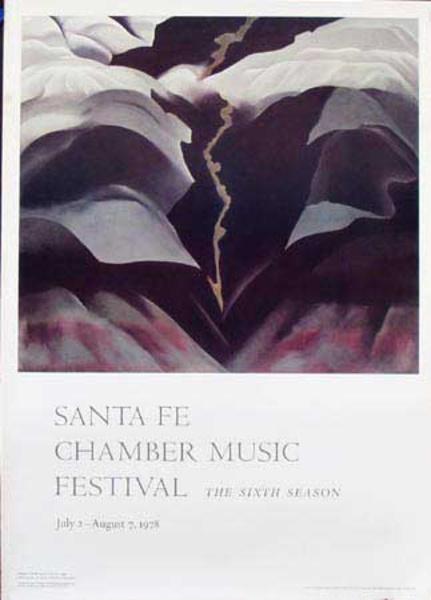 Santa Fe Chamber Music Festival Original Poster 1978