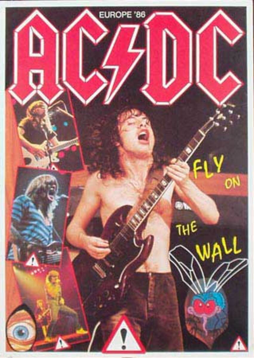 ACDC Original Rock and Roll Poster Fly On The Wall