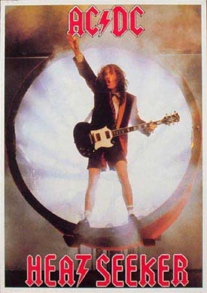 ACDC Original Rock and Roll Poster Heat Seeker