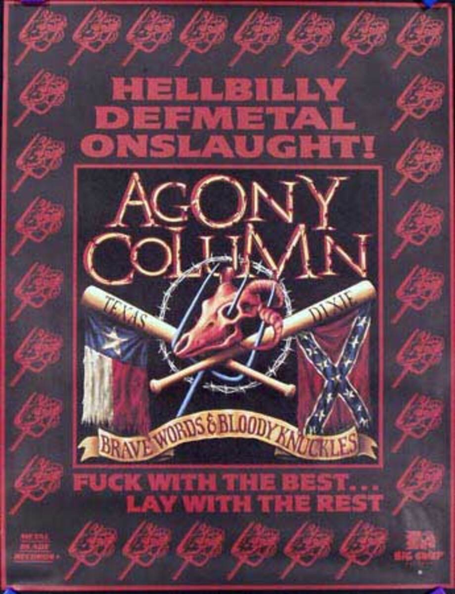 Agony Column Original Rock and Roll Poster