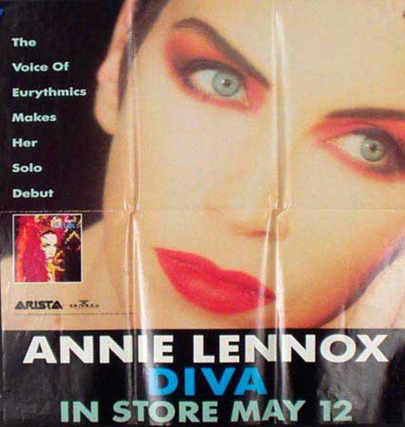 Original Vintage Annie Lennox Music Poster