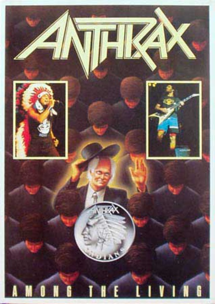 Anthrax Original Rock and Roll Poster Among The Living