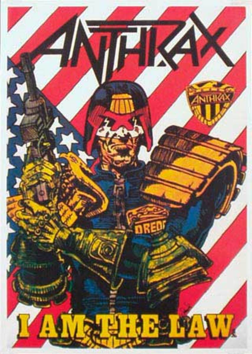 Anthrax Original Rock and Roll Poster I am the Law