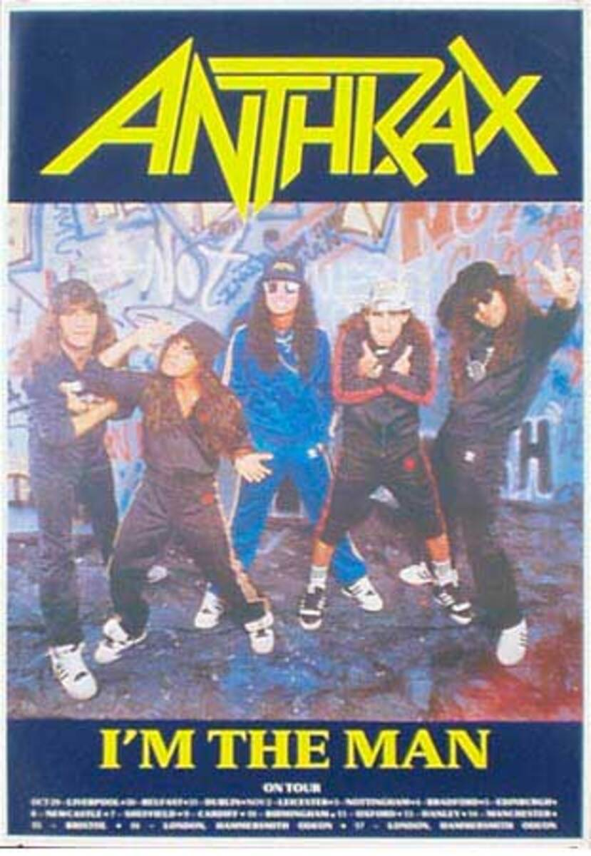 Anthrax Original Rock and Roll Poster I Am The Man