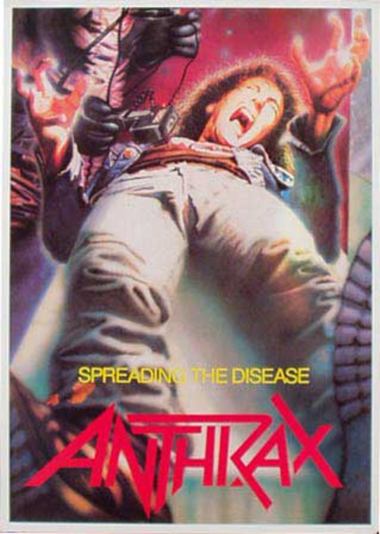 Anthrax Original Rock and Roll Poster Spreading the Disease