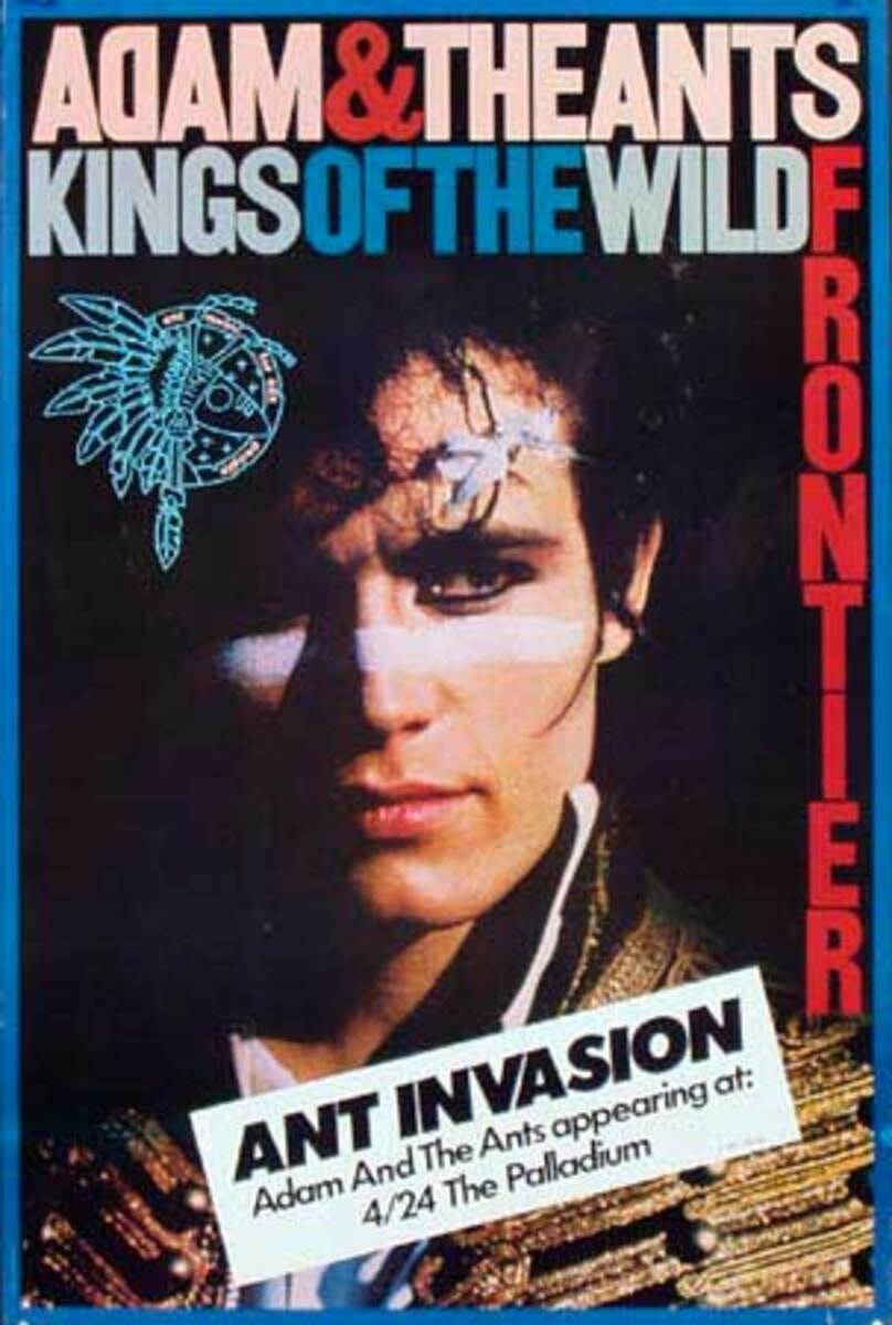 Adam and the Ants Ant Invasion Original Rock and Roll Poster King of the Wild