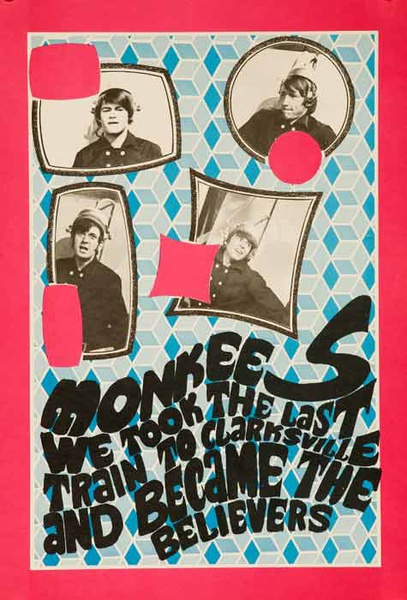 Monkees We took The Last Train To Clarksvile Original Rock and Roll Poster