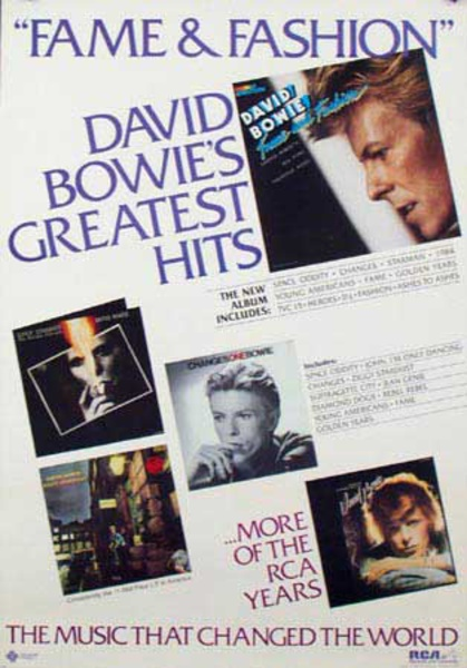David Bowie Original Rock and Roll Poster Greatest Hits
