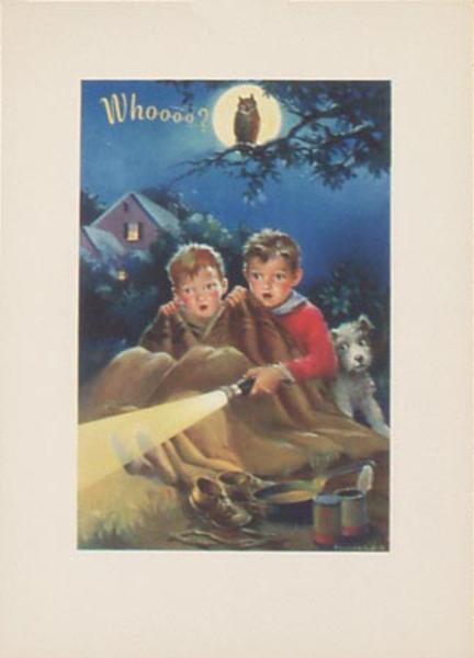 Original Vintage Advertising Print Eveready Flashlight Owl