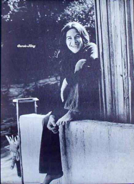 Carol King Black and White Portrait Original Psychadelic Era Poster