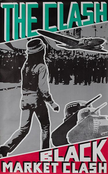 The Clash Black Market Original Vintage Rock and Roll Poster