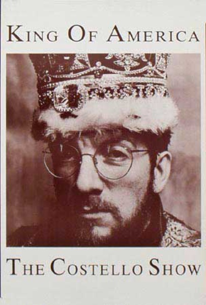 Elvis Costello Original Rock and Roll Poster King of America