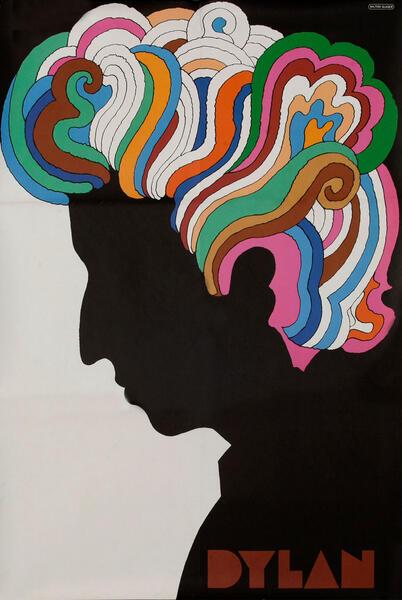 Bob Dylan Original Rock and Roll Poster Milton Glaser