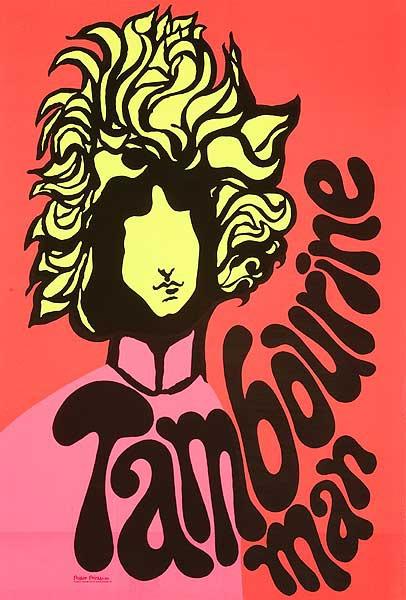 Bob Dylan Tamborine Man Original Vintage Music Poster