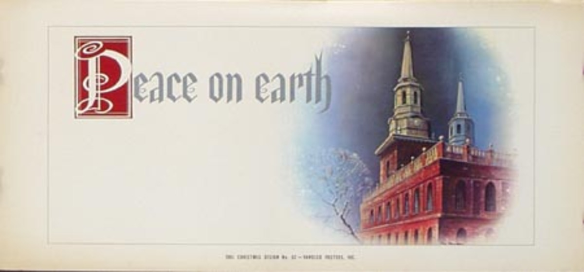 Stock Original Vintage Advertising Poster Peace On Earth