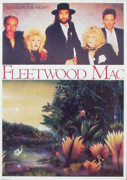 Fleetwood Mac Original Rock and Roll Poster Tango in the Night