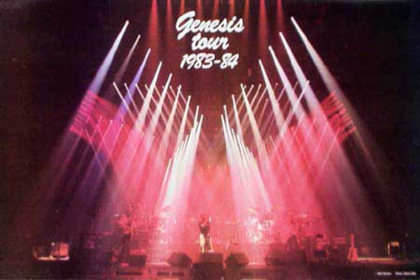 Genisis Original Rock and Roll Poster 1983 Tour