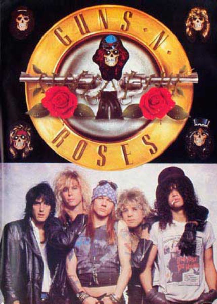 Guns and Roses Original Rock and Roll Poster