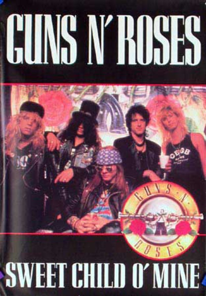 Guns and Roses Original Rock and Roll Poster Sweet Child