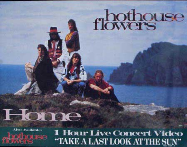 Hot House Flowers Home Original Rock and Roll Poster