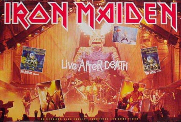 Iron Maiden Original Rock and Roll Poster Life After Death