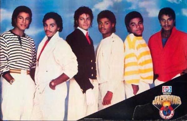 Jackson Five Original Rock and Roll Poster Pepsi World Tour 1984