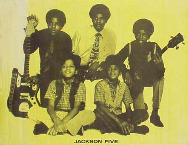 Jackson Five Original Rock and Roll Poster yellow backround